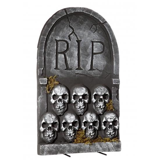 Halloween Grafsteen Rip Met Schedels 55 Cm Capshopper kopen