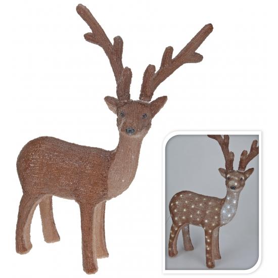 Kerstverlichting rendier gekleurd 150 led. decoratie rendier met 150 witte led lampjes. het rendier is 50 x ...