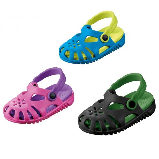 Kinder water sandalen met verwijderbaar zooltje. gekleurde kinder water sandaaltjes met een bloemetje op de ...
