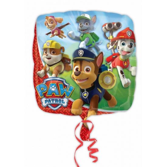 Paw patrol folie ballon. deze folie ballon met plaatjes van paw patrol wordt gevuld met helium. het formaat ...