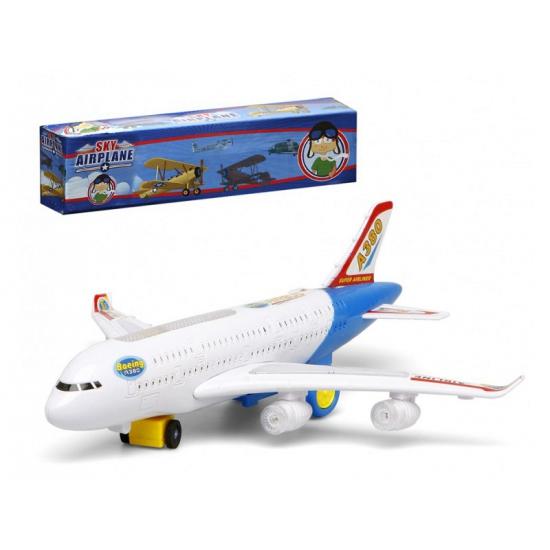 Wit Speelgoed Vliegtuig Met Licht En Geluid Capshopper kopen