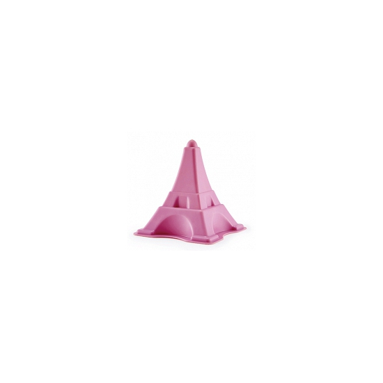 Zandvorm eiffeltoren. een kunststof zandvorm in de vorm van de eiffeltoren.