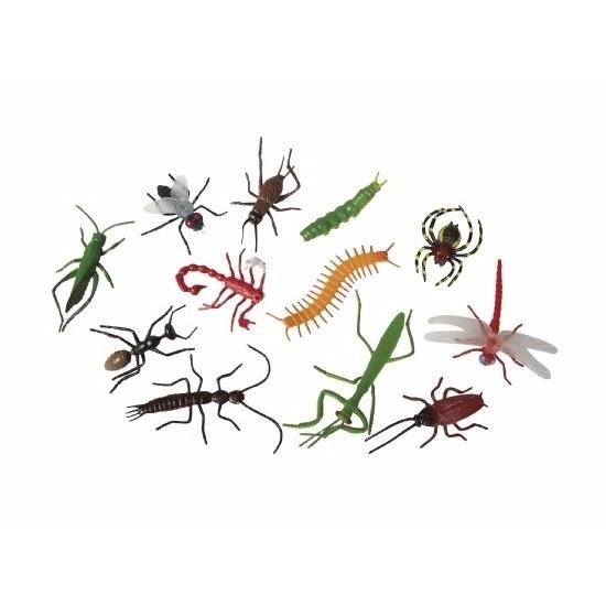 12x Plastic speelgoed insecten