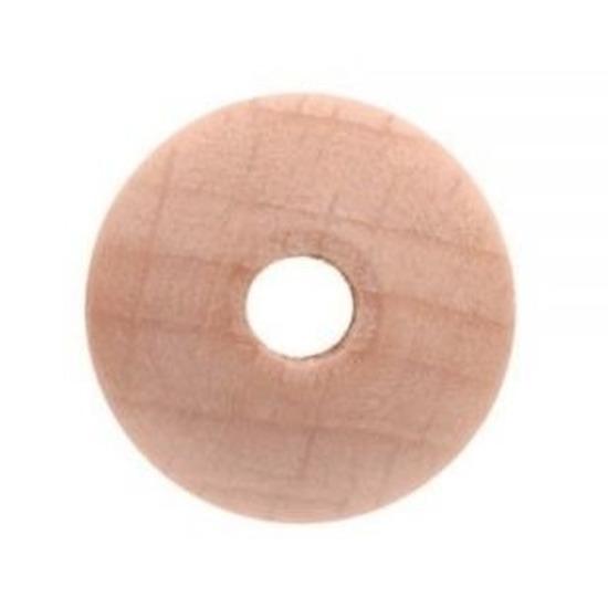 15x Houten kralen 18 mm
