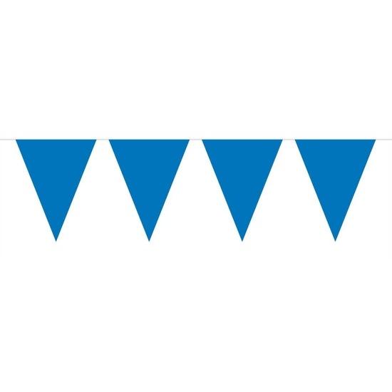 1x Mini vlaggenlijn-slinger blauw 300 cm