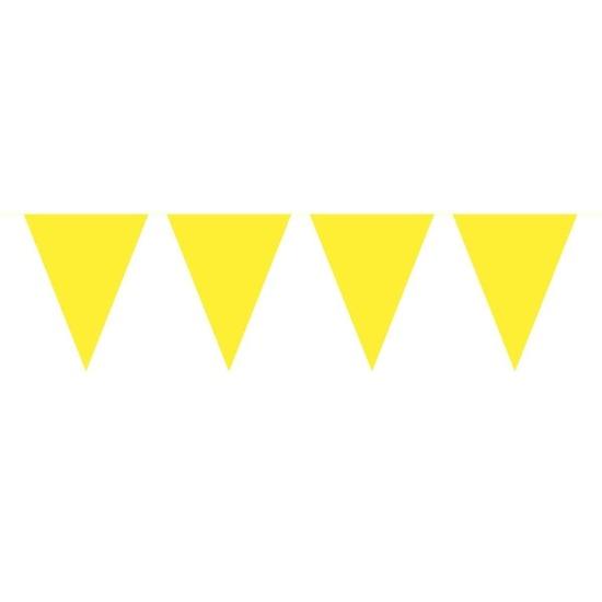 1x Mini vlaggenlijn-slinger geel 300 cm