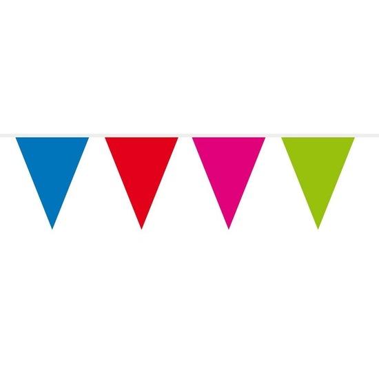 1x Mini vlaggenlijn-slinger multi colour 300 cm