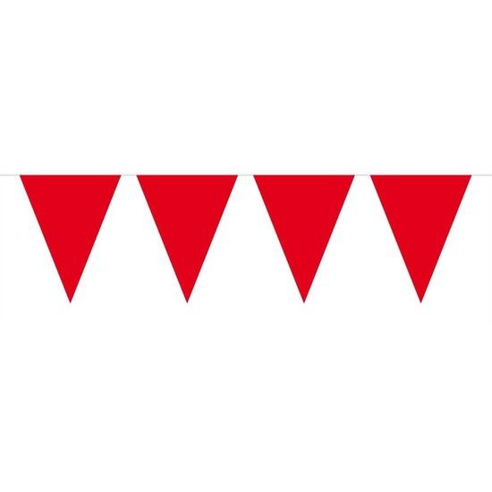 1x Mini vlaggenlijn-slinger rood 300 cm