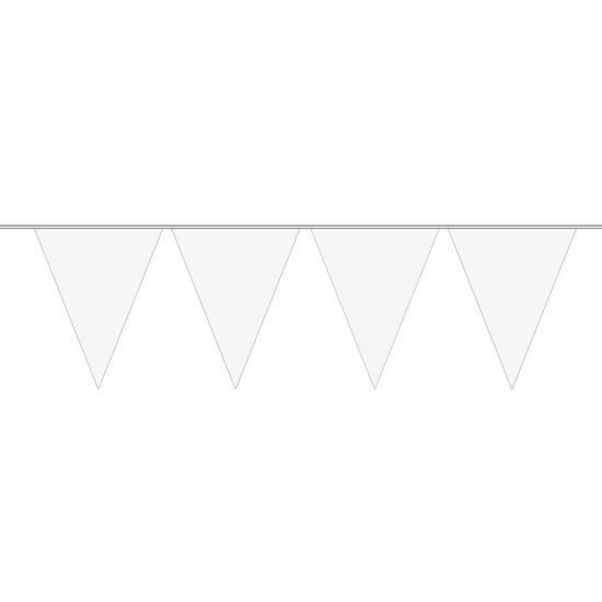 1x Mini vlaggenlijn-slinger wit 300 cm
