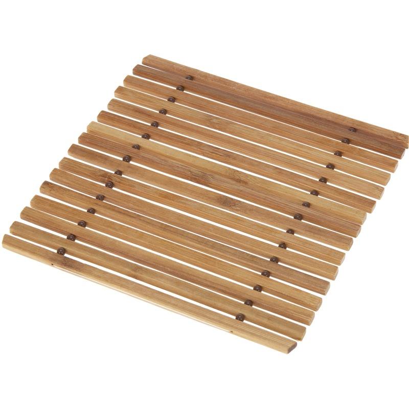 1x Pannen onderzetter bamboe 18 cm