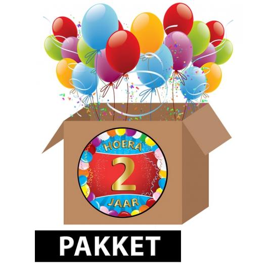 Verjaardag 2 Jaar Pakket In Leeftijd Feestartikelen Winkel