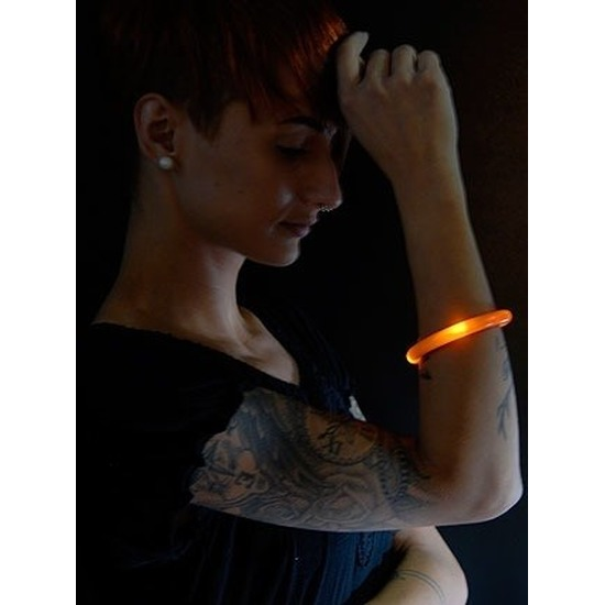 2x Oranje LED licht wikkel armband voor volwassenen