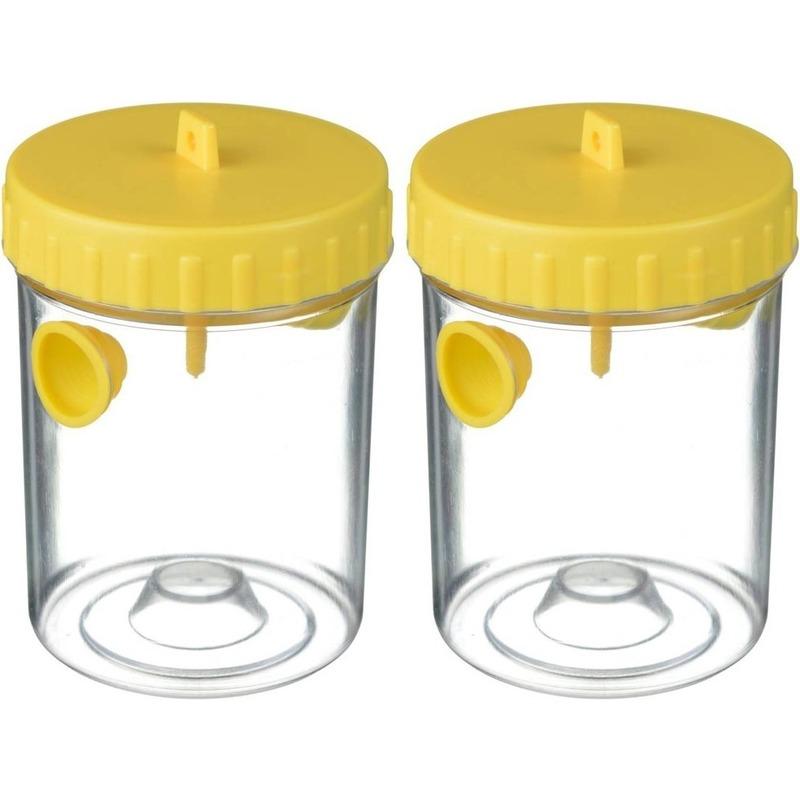 2x Wespenvangers-wespenvallen geel 14 cm