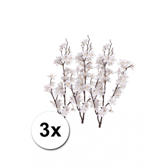 3 decoratie appelbloesem takken wit 84 cm