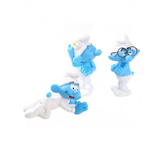 3 plastic Smurfen 13 cm