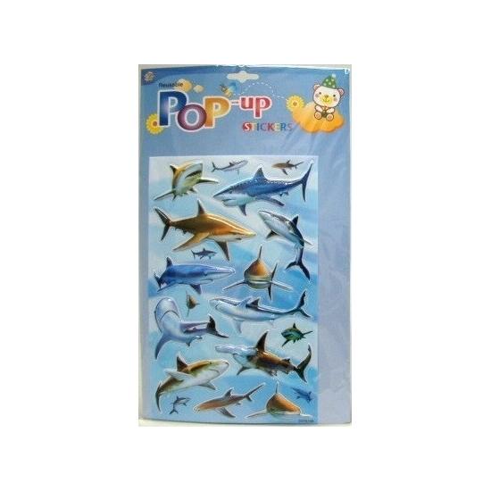 3D haaien stickers Capshopper voordeligste prijs