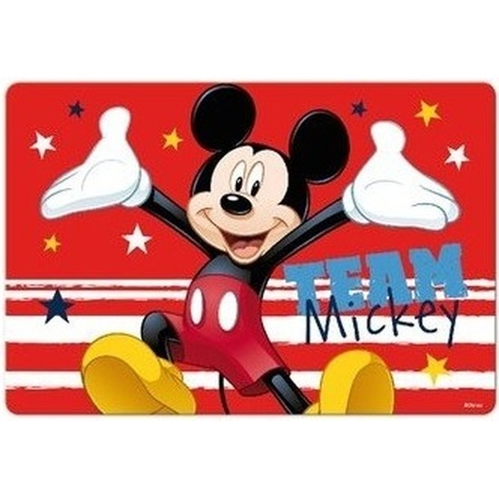 3D placemat Disney Mickey Mouse rood 42 x 28 cm