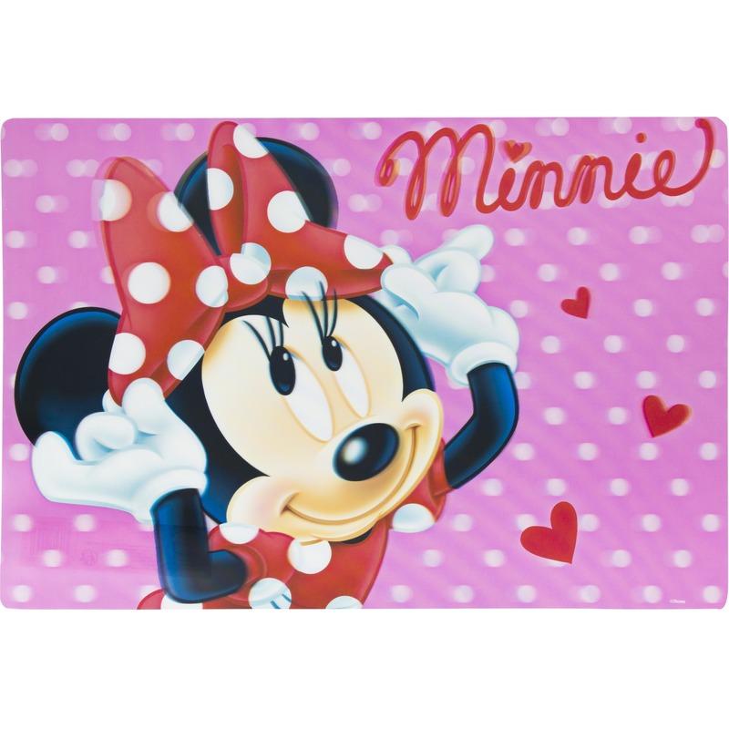 3D placemat Disney Minnie Mouse roze 42 x 28 cm