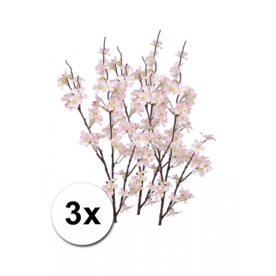 3x decoratie appelbloesem takken roze 84 cm