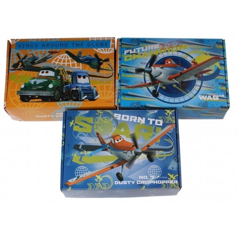 3x Disney Planes opbergboxen-opbergdozen van karton