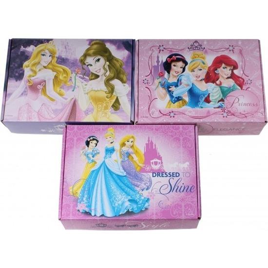 3x Disney Princess opbergboxen-opbergdozen van karton