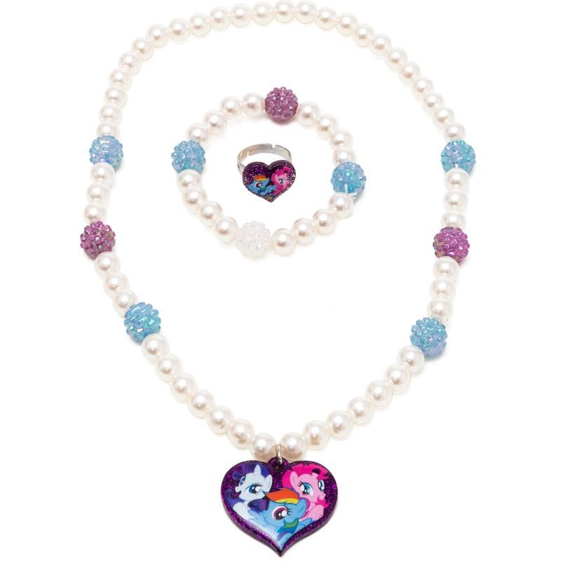 3x My Little Pony sieraden set ring-armband-ketting voor meisjes