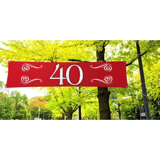 40 jaar jubileum decoratie banner
