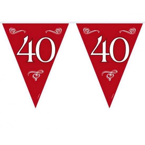 40 jaar jubileum decoratie slinger