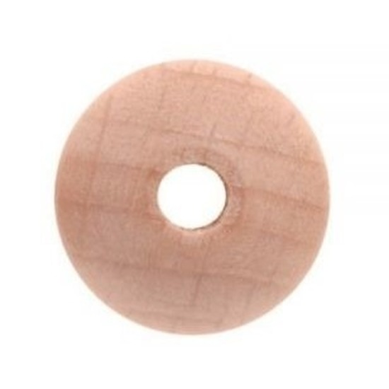 42x Houten kralen 10 mm