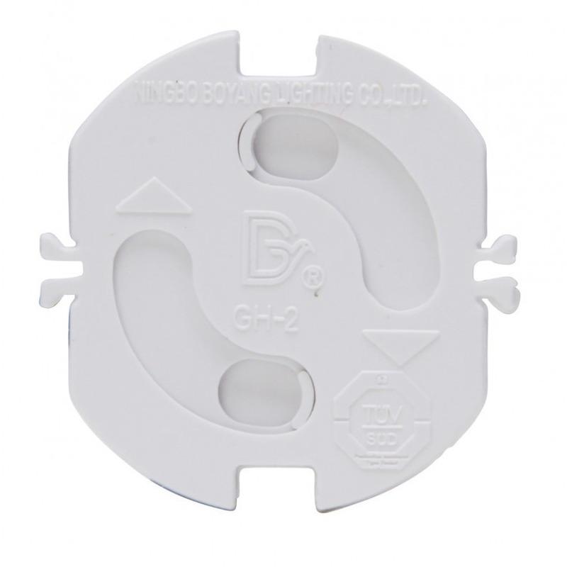 4x Stopcontact beveiliging klem-stopcontactbeveiligers wit