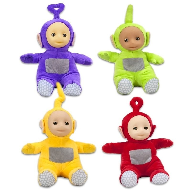 4x Teletubbies speelgoed knuffels-poppen set 26 cm