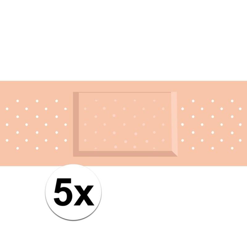 5 x Mega pleister stickers voor dokter-zuster kostuums
