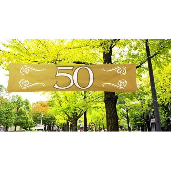 50 jaar jubileum decoratie banner
