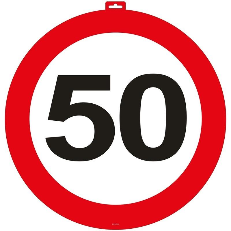 50 Jaar verkeersbord deurbord 47 cm