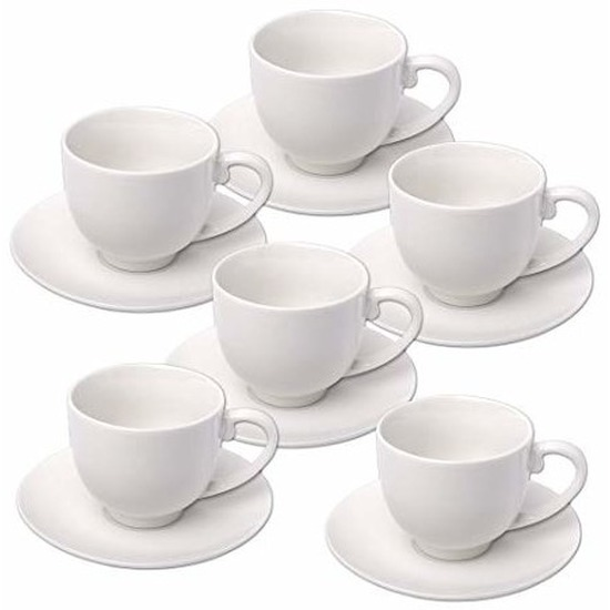 6x Espresso koffiekopjes en schotels set