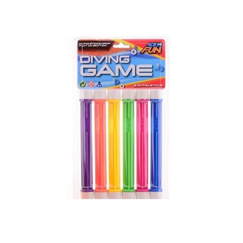 6x Gekleurde duikstaafjes-opduik speelgoed 20 cm