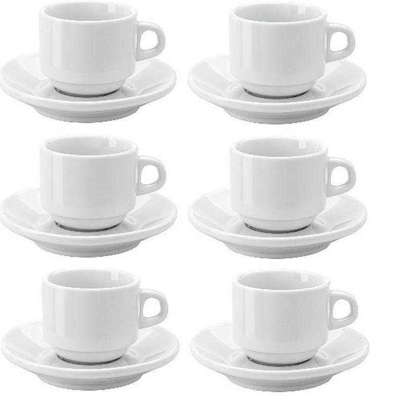 6x Koffiekopjes en schotels set