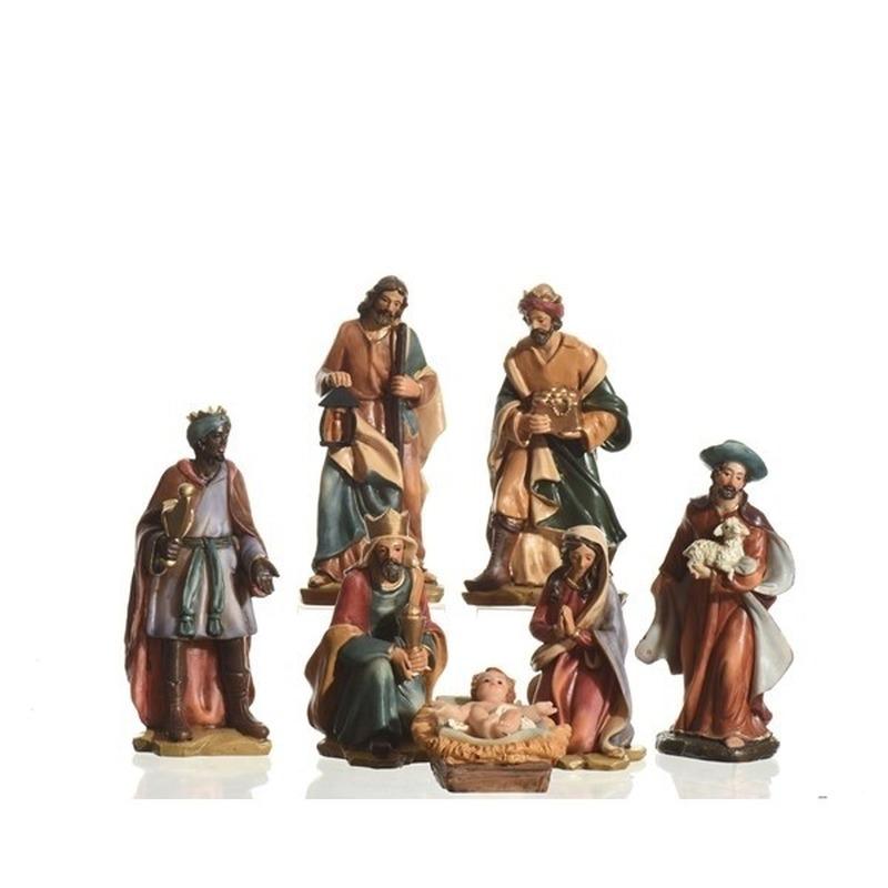 7-delige kerststal figuren beeldjes 15 cm
