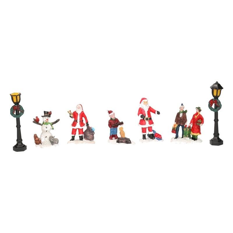 7x Kerstdorp figuren-poppetjes type 3