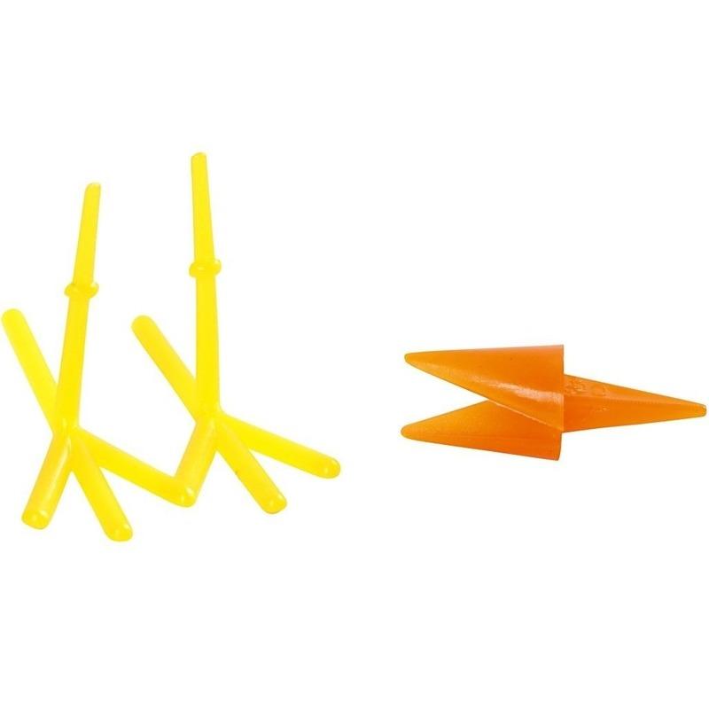 8x Kippen snavels en poten knutselmateriaal