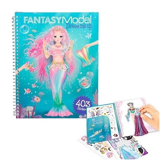 Aankleed stickerboek fantasie TOPModels