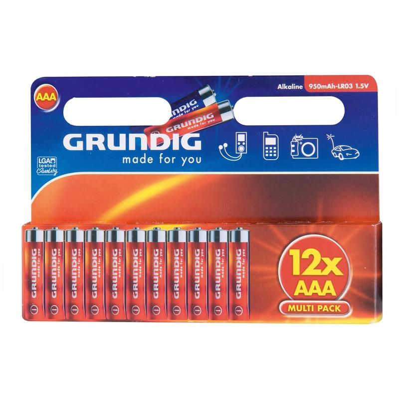 Alkaline batterijen AAA Grundig 12 stuks