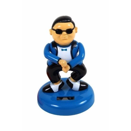 Fun en Fopartikelen Capshopper Auto dashboard gangnam danser blauw 12 cm