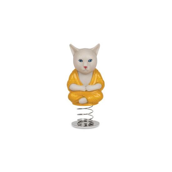 Auto deco poppetje katten monnik Capshopper Fun en Fopartikelen