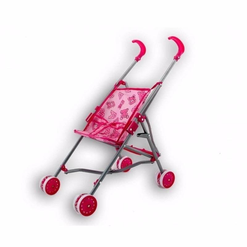 Baby buggy voor poppen roze