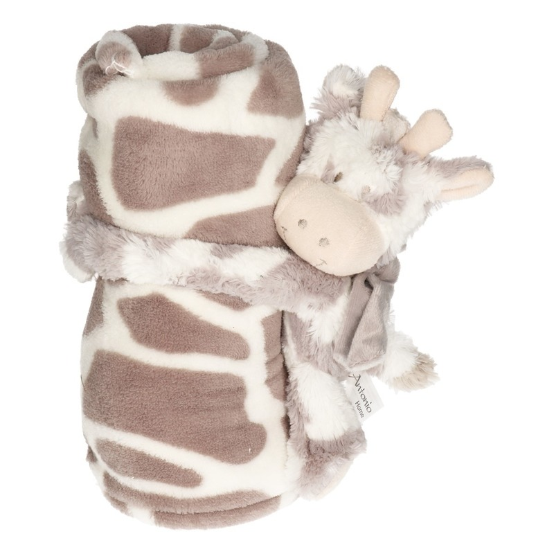Baby-kinder dekentje met koe-stier knuffel