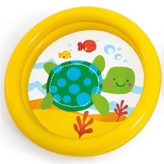 Baby-kinder opblaas zwembad geel 61 cm