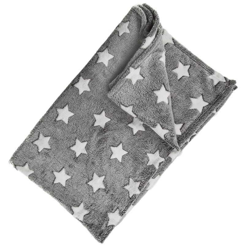 Babykamer grijs dekentjes met sterren