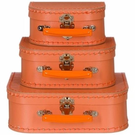 Babykamer koffertje oranje el 25 cm