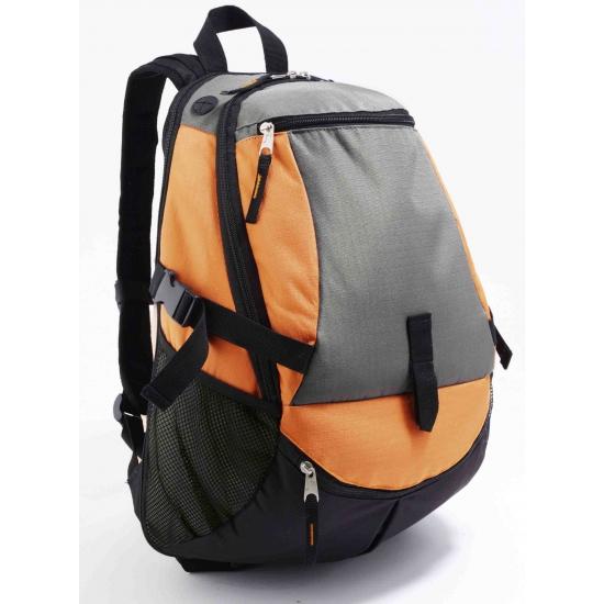 1eac2bc21ae Trekking pro rugzak. deze oranje met grijs en zwart trekking rugzak is  gemaakt van polyester